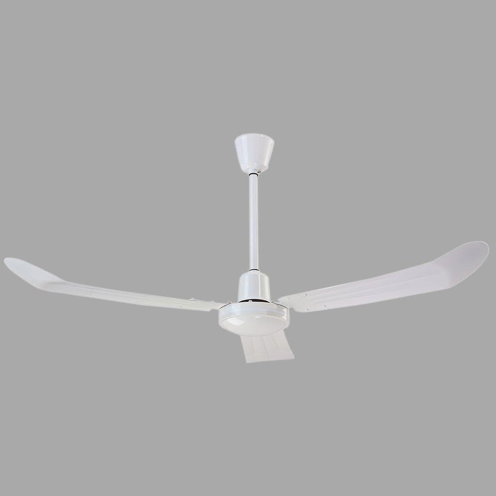 Ceiling Fans With Electrical Cords : Industrial in cord and plug non reversible white cp