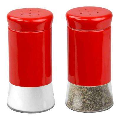 Essence Red Salt and Pepper Shakers