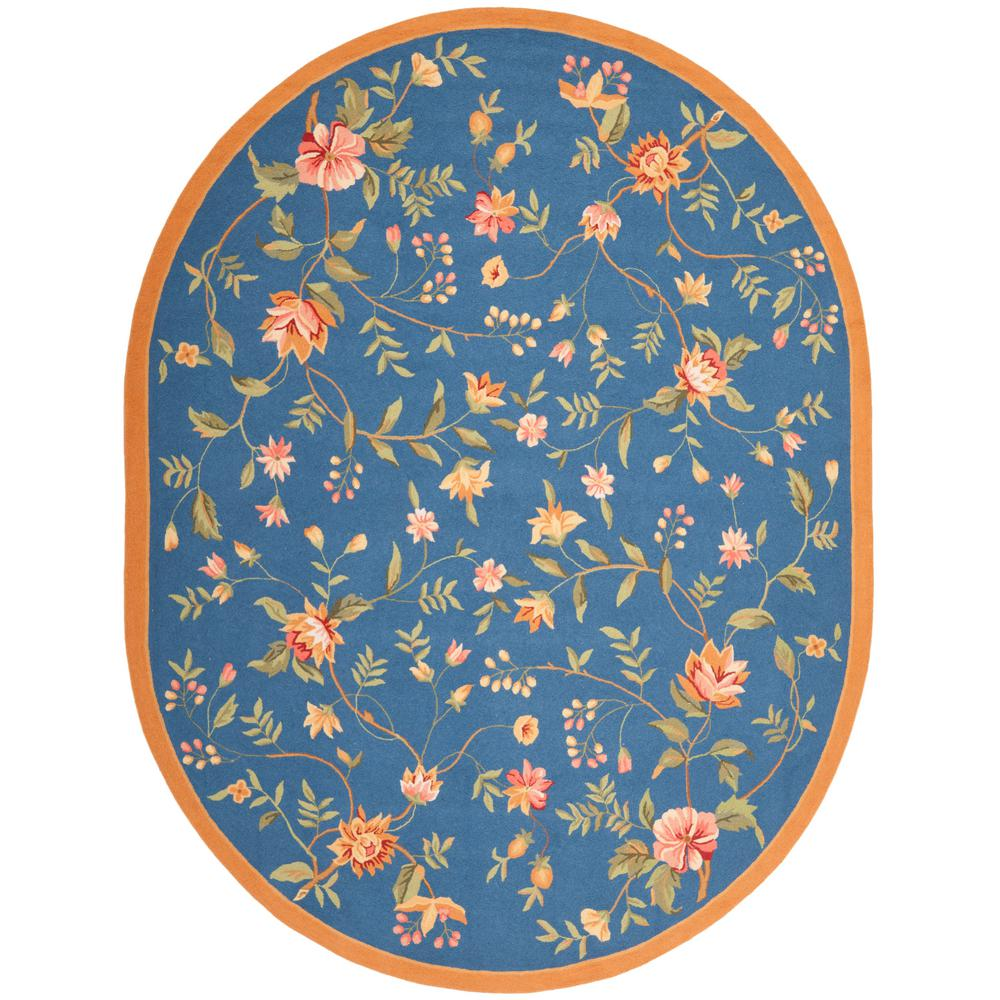 Safavieh Chelsea Light Blue 8 Ft. X 10 Ft. Oval Area Rug