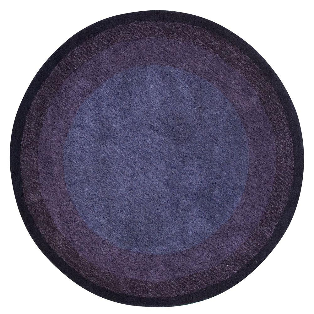 Karolus Blue 6 Ft Round Area Rug