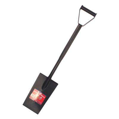 13 in. 12-Gauge Steel Spade with D-Grip Handle