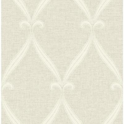 Tulip Frame Linen and White Victorian Wallpaper