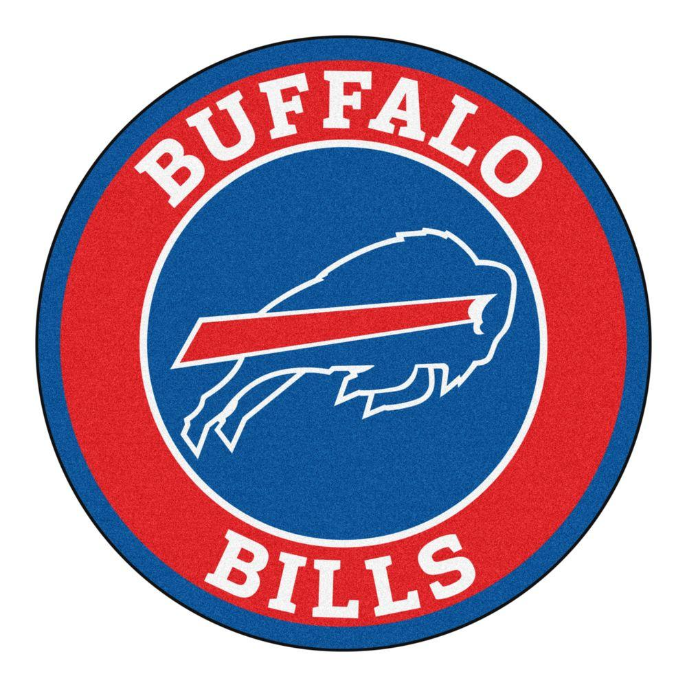 FANMATS NFL Buffalo Bills Red 2 ft. Round Area Rug-17952 - The Home ... 395ae55171f4