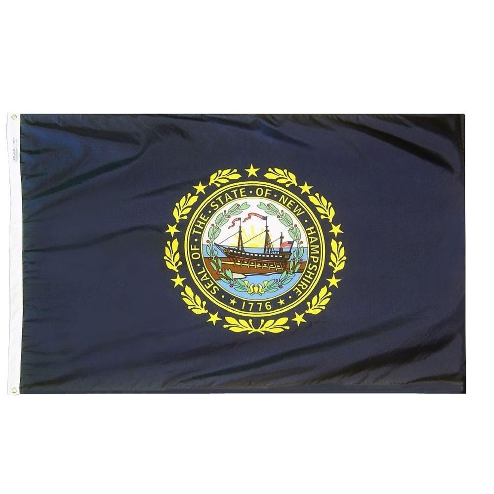 2 ft. x 3 ft. Nylon New Hampsire State Flag