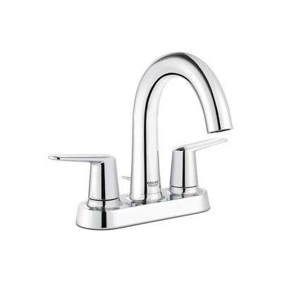 Veletto 4 in. Centerset 2-Handle High-Spout Bathroom Faucet in StarLight Chrome