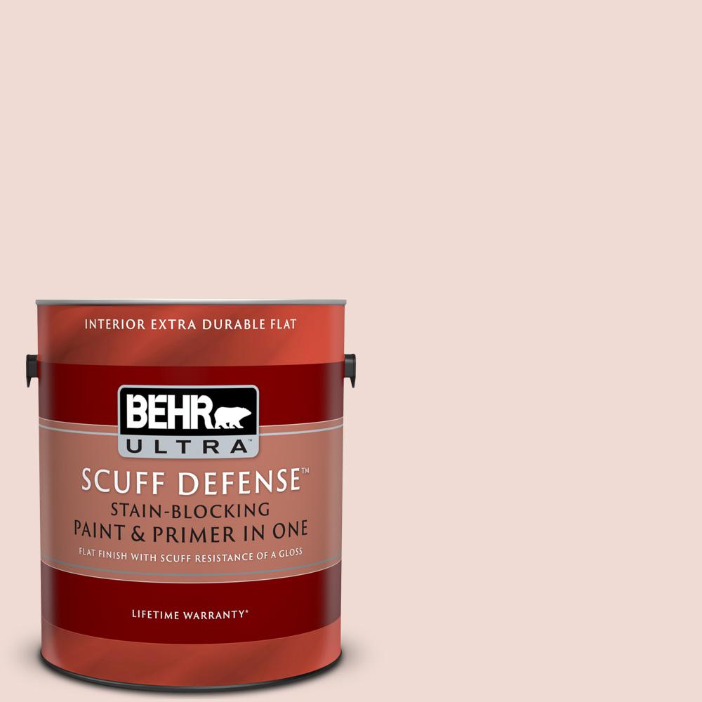 Behr Ultra Scuff Defense 1 Gal Mq3 34 Stolen Kiss Extra Durable Flat Interior Paint And Primer In One 172001 The Home Depot