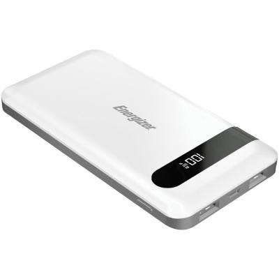 10,000 Series Power Bank with 2 USB Ports in White