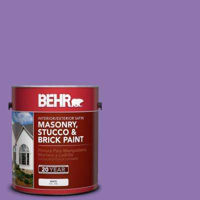 1 gal. #P570-5 Romantic Moment Satin Interior/Exterior Masonry, Stucco and Brick Paint