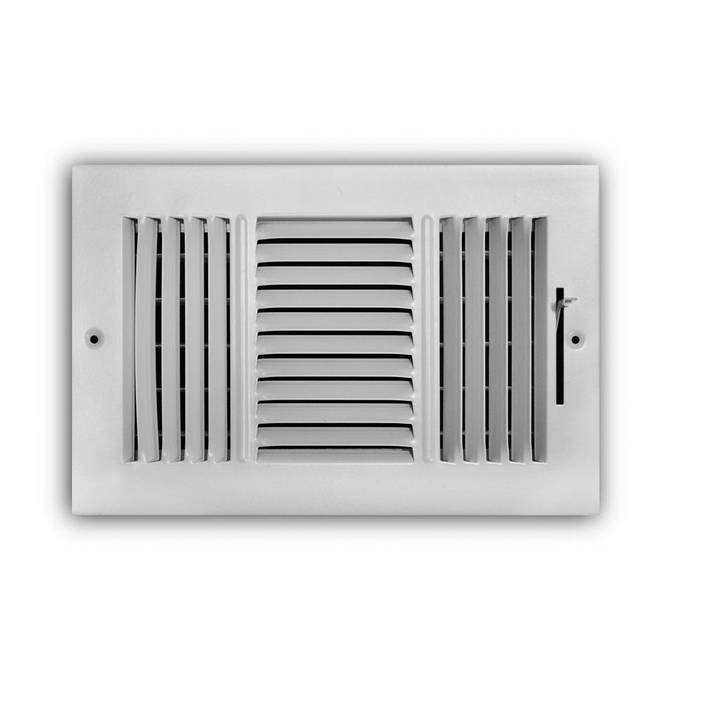 Everbilt 10 in  x 6 in  3-Way Aluminum Wall/Ceiling Register