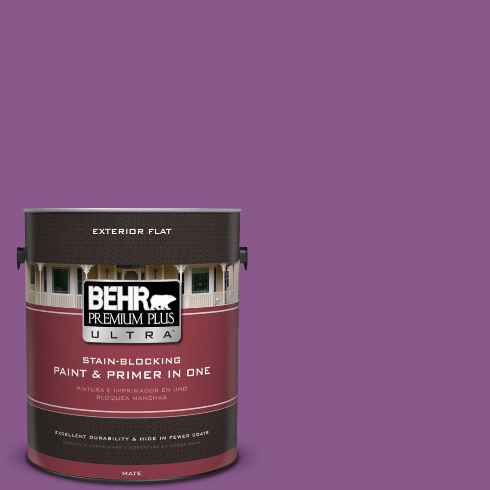 BEHR Premium Plus Ultra 1-gal. #670B-7 Candy Violet Flat Exterior Paint