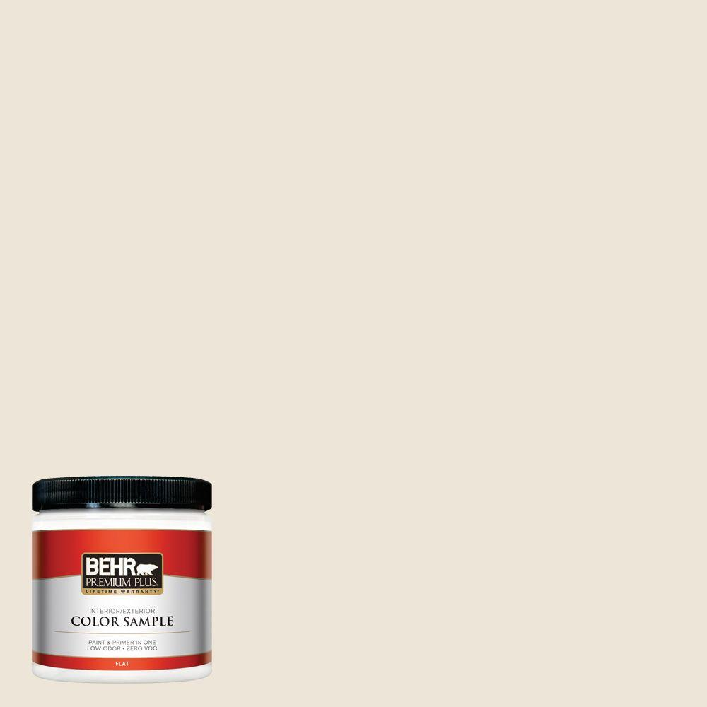 BEHR Premium Plus 8 oz. #ECC-42-2 Cotton Ridge Interior/Exterior Paint Sample