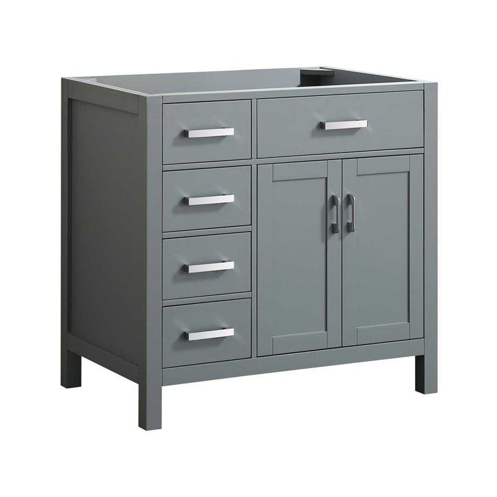 Hampton 36 in. W x 21.5 in. D Bath Vanity Cabinet Only in Grey