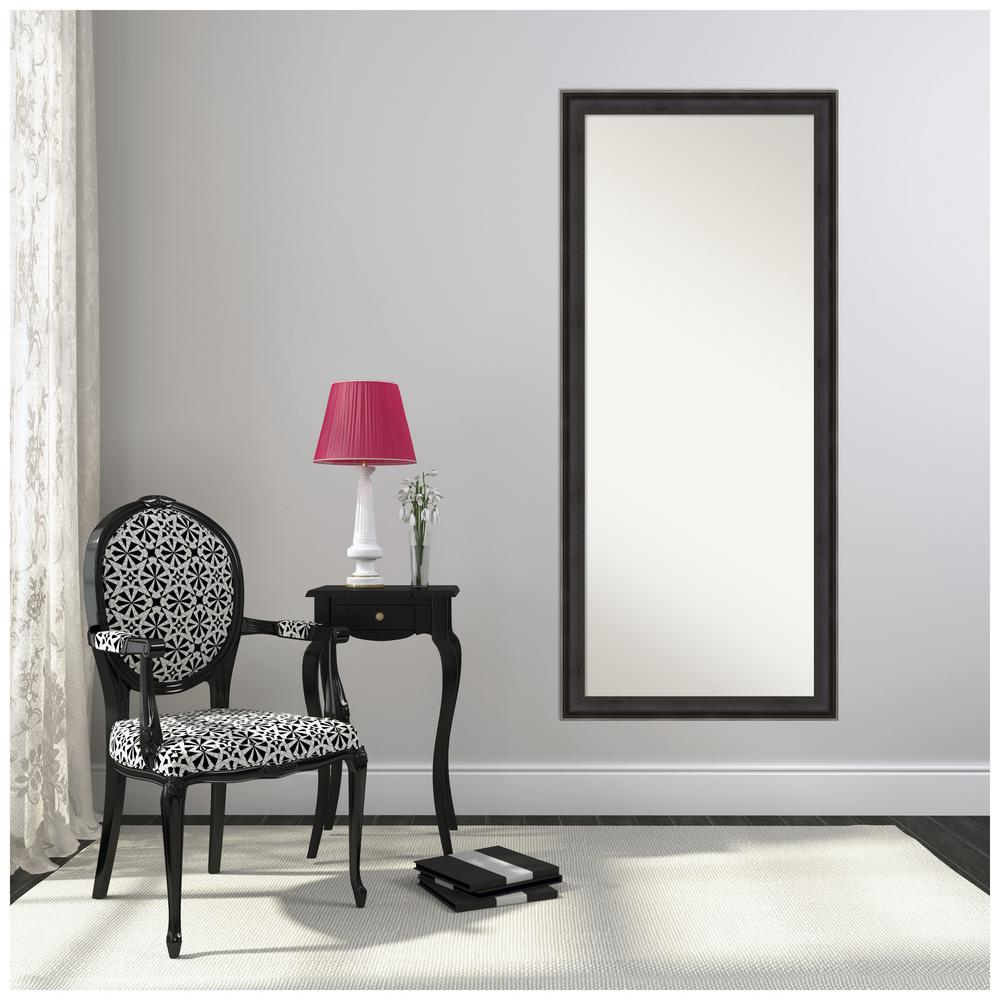 Amanti Art Allure Charcoal 28.38 in. x 64.38 in. Decorative Floor / Leaner Mirror was $536.0 now $315.16 (41.0% off)