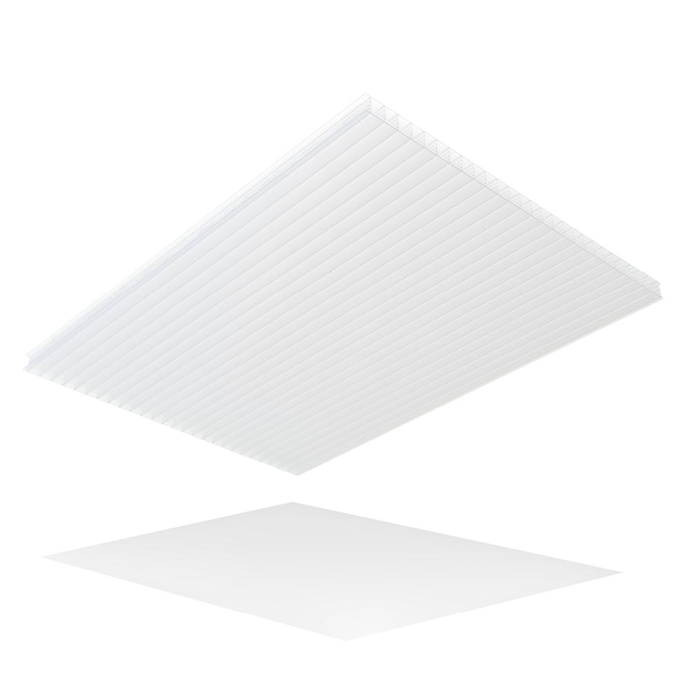 LEXAN Thermoclear 24 in. x 24 in. x 1/4 in. Opal Multiwall Polycarbonate Sheet (5-Pack)