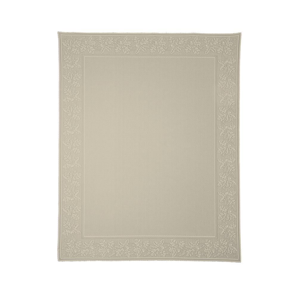Oak Leaf Rectangle Cafe Polyester Tablecloth