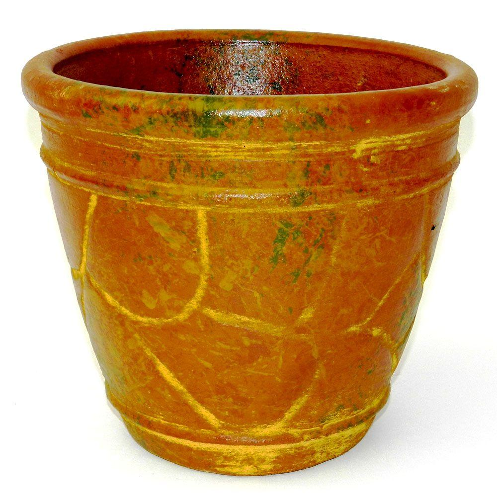 The Plant Stand Of Arizona 10 In. Round Clay Mexican Pot