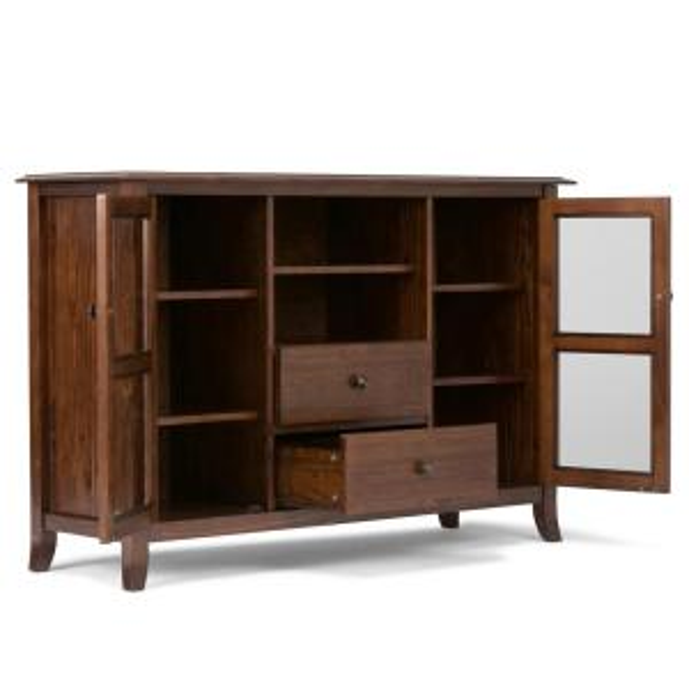Superbe +4. Simpli Home Artisan Medium Auburn Brown Tall TV Media Stand