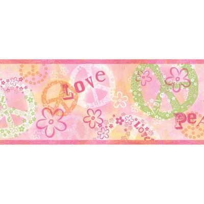 Janis Peace Love Toss Wallpaper Border