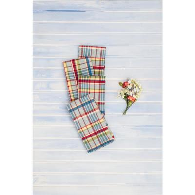 "Picnic Blue Plaid Seersucker 18"" x 18"" Napkins Set of 4"
