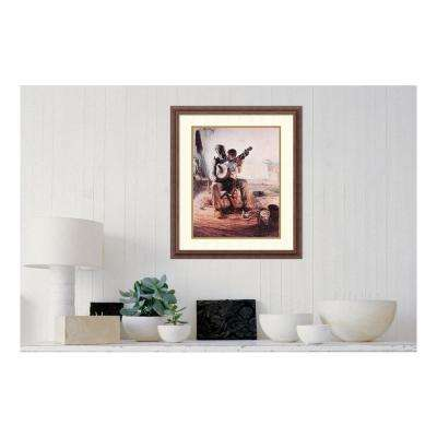 """28 in. H x 23 in. W """"Banjo Lesson"""" by """" Henry Tanner"""" Framed Print Wall Art"""