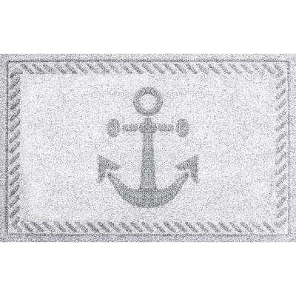 White 24 in. x 36 in. Ships Anchor Polypropylene Door Mat