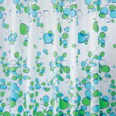 Bubblz Shower Curtain in Blue/Green