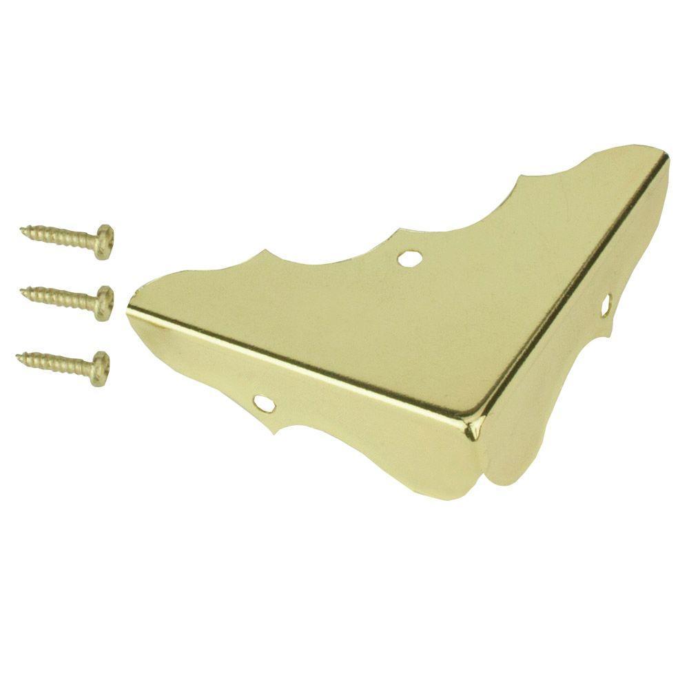 Everbilt 5 8 In X 1 3 4 In Bright Brass Decorative Corners