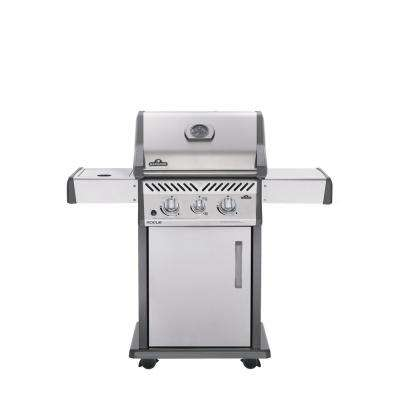 Rogue 365 3-Burner with Infrared Side Burner Propane Gas Grill in Stainless Steel
