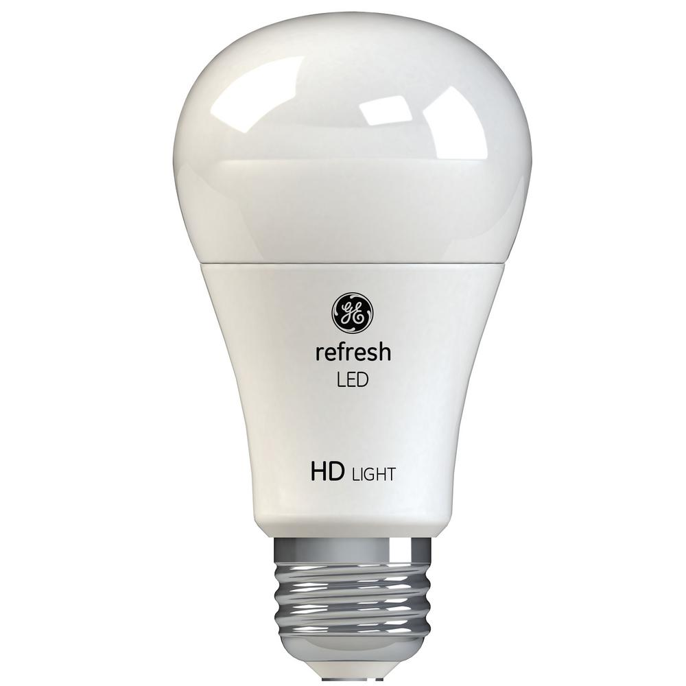 GE 60W Equivalent Daylight (5,000K) High Definition A19