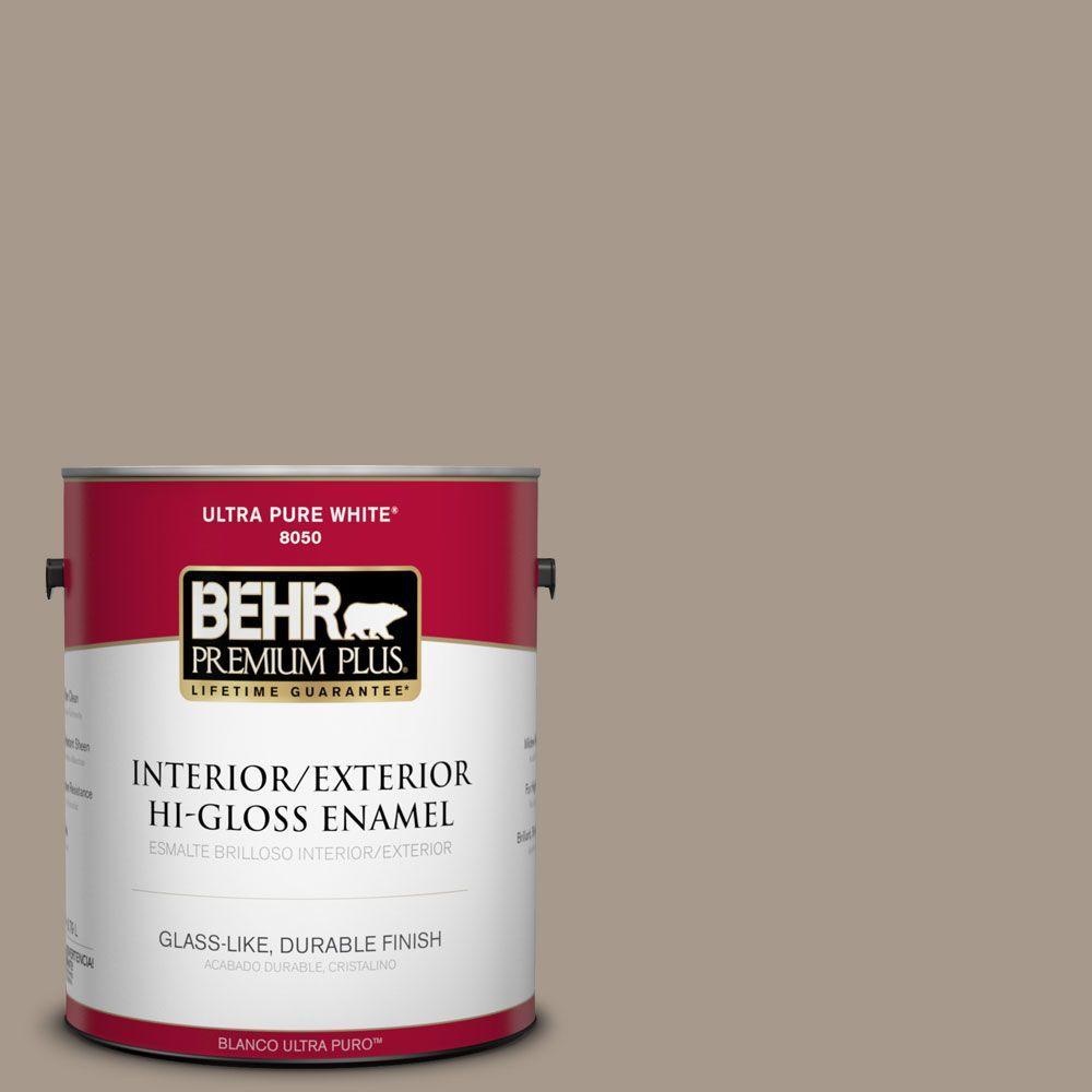BEHR Premium Plus 1-gal. #BXC-10 Warm Stone Hi-Gloss Enamel Interior/Exterior Paint