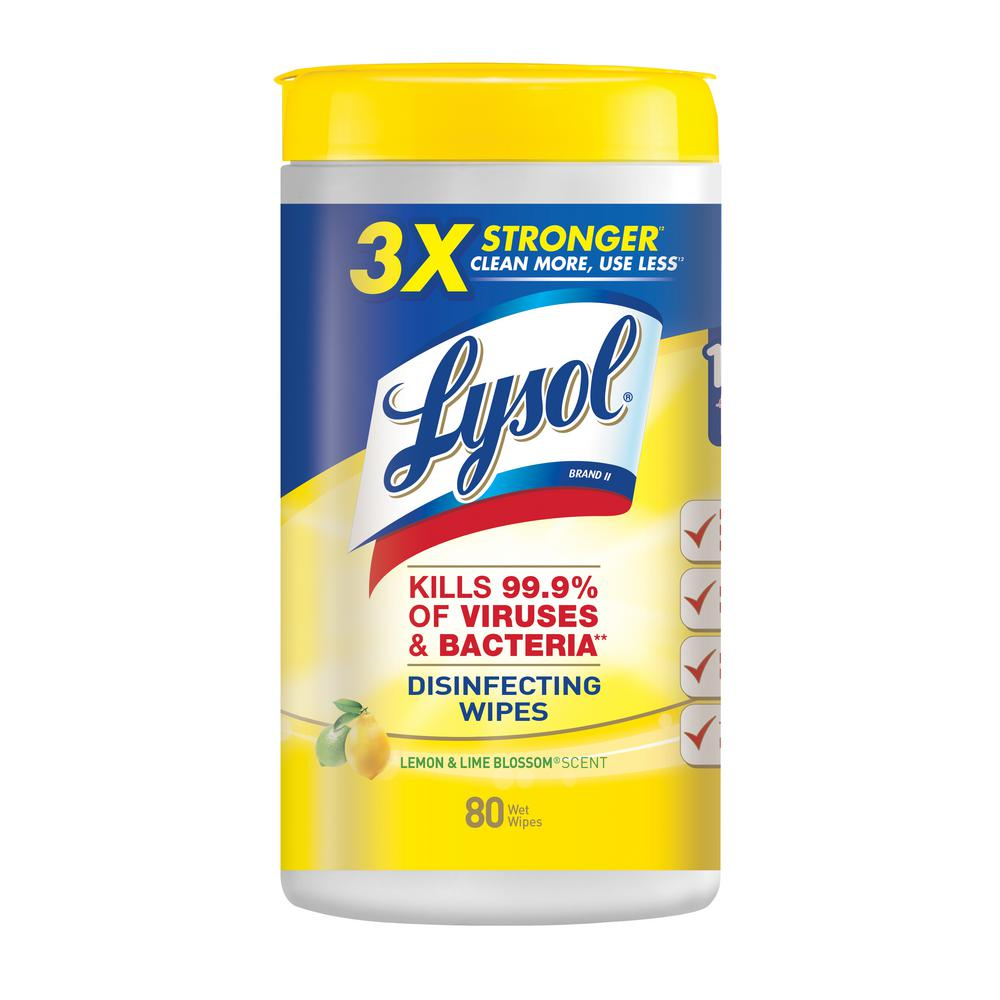 Lysol 80-Count Lemon and Lime Blossom Disinfecting Wipes