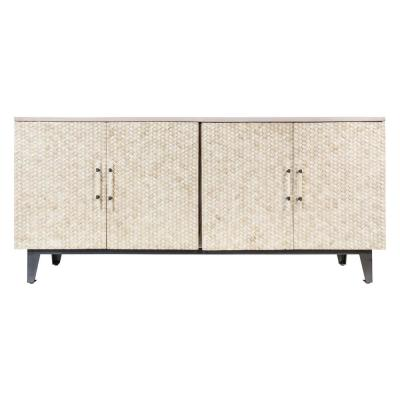 Assam White Wash/Ivory Console Table