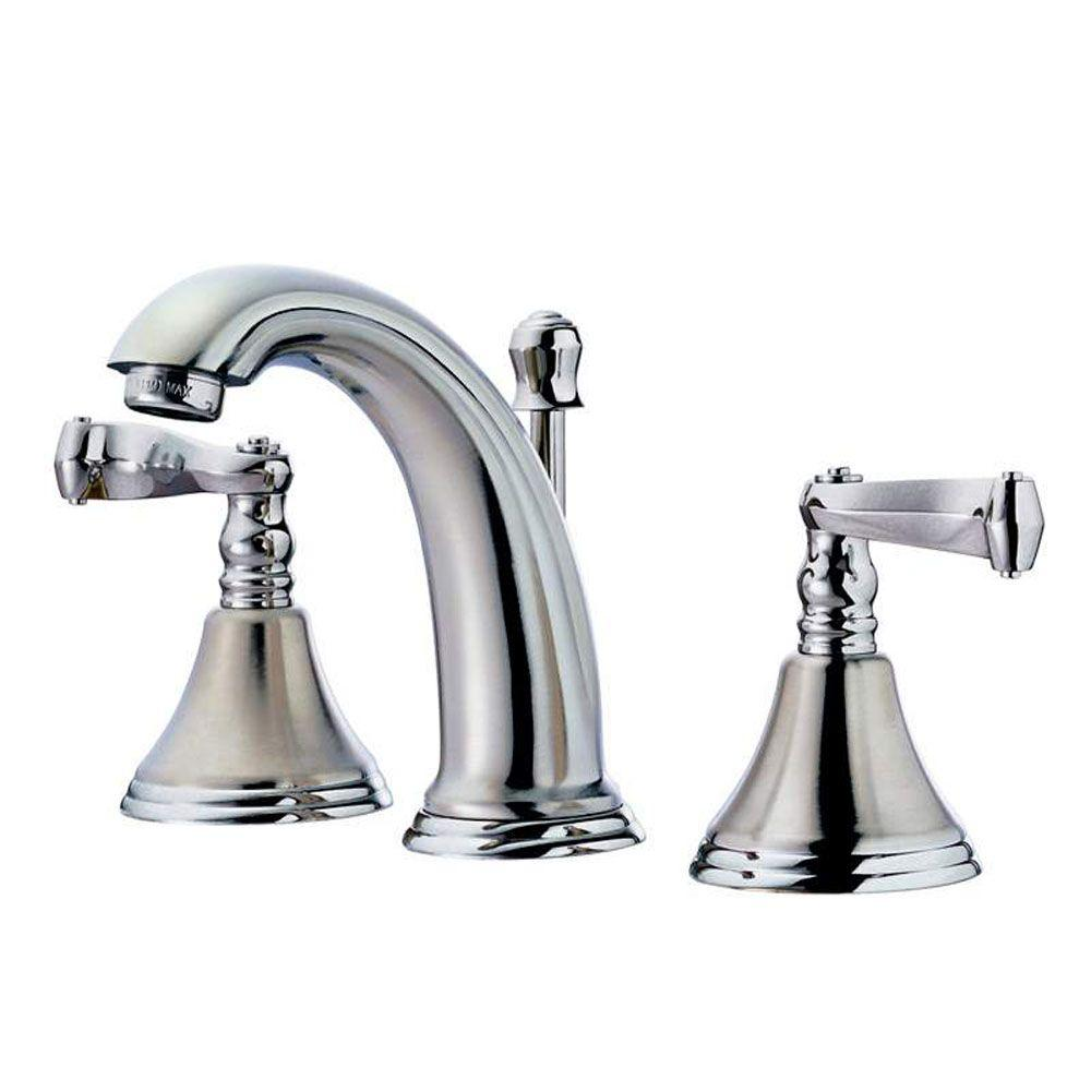 Pegasus 2000 Series 6 in. - 12 in. Widespread 2-Handle Low-Arc Bathroom Faucet in Polished Chrome-DISCONTINUED