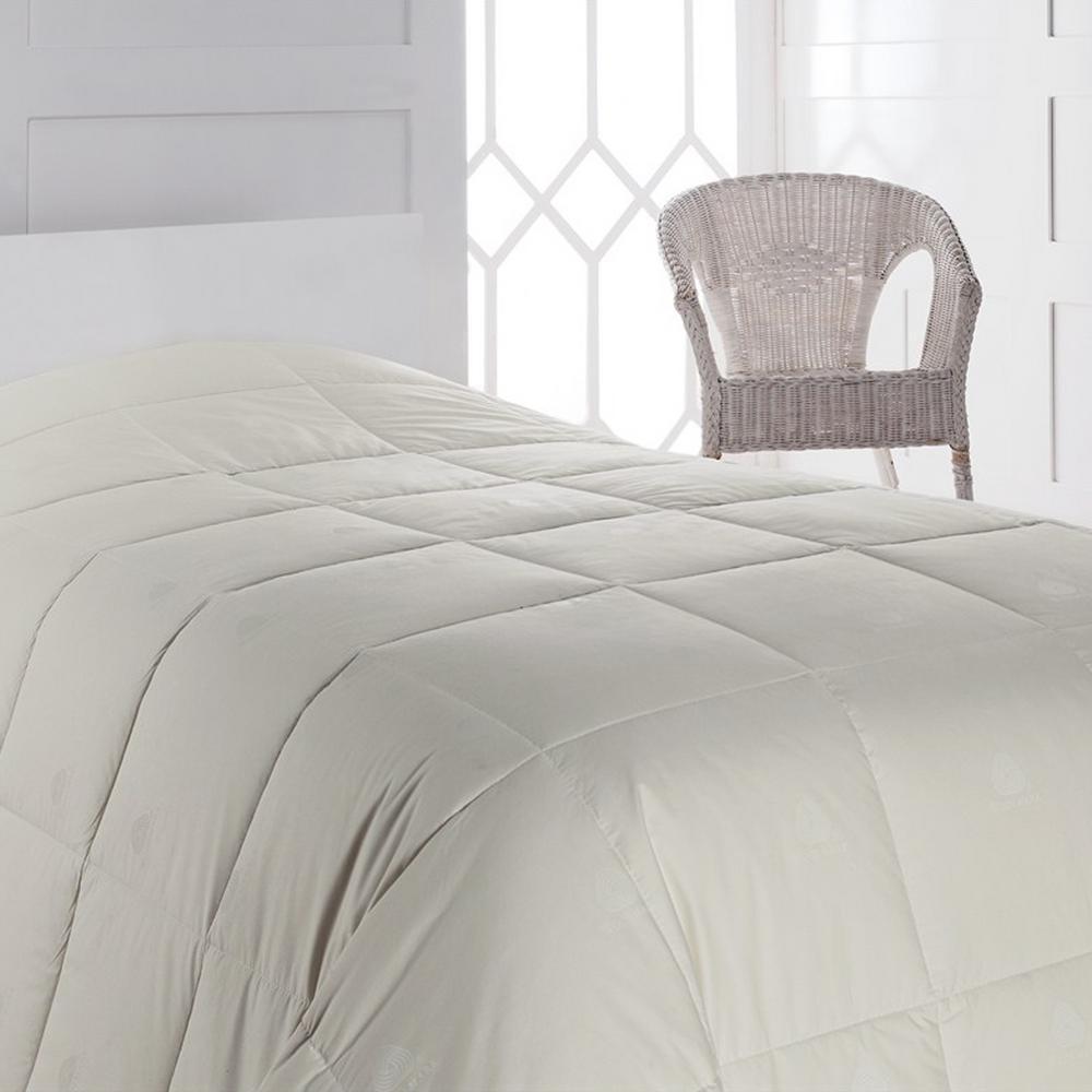 Wool Filled Comforter Duvet, Soft Bedspread, Hypoallergenic, 100% Cotton Down Alternative Comforter Bedding Set