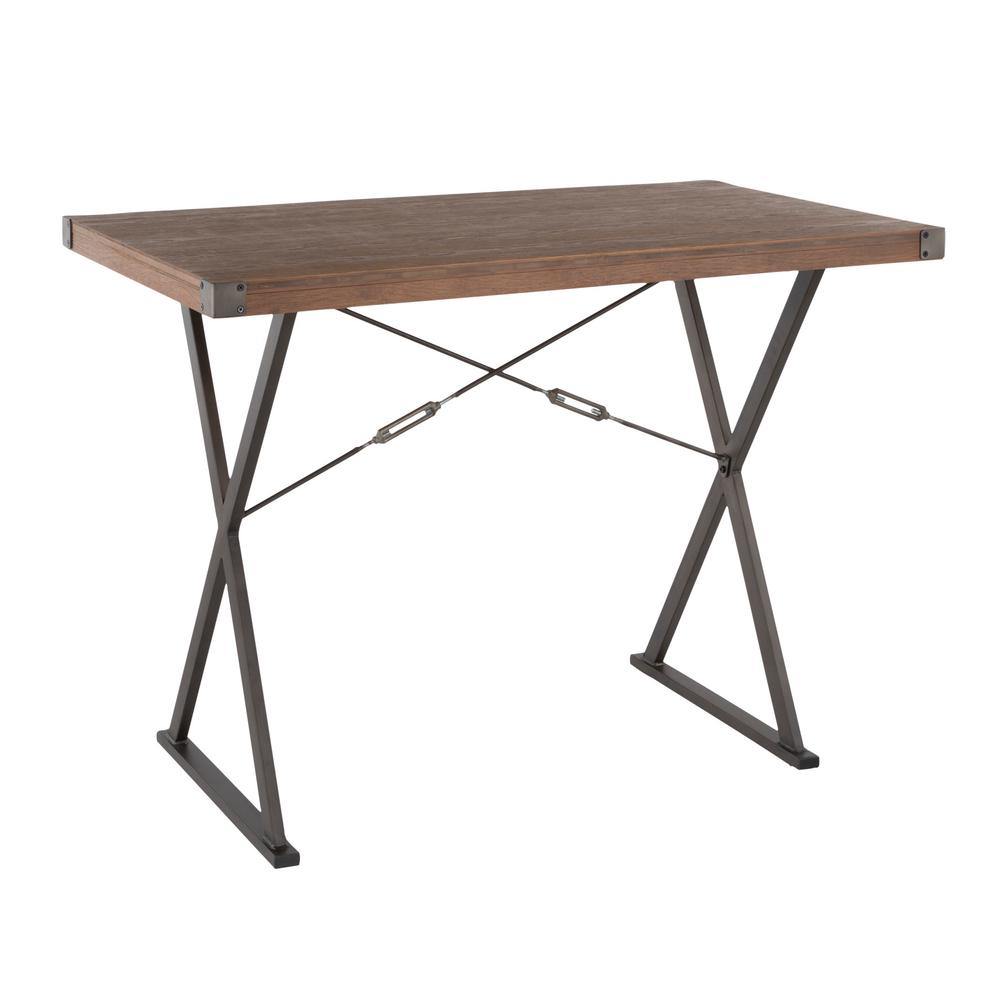 Prep Antique and Brown Counter Height Dining Table