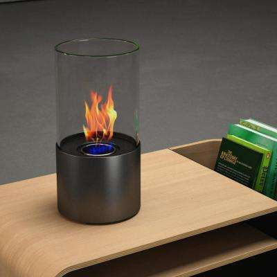Lit 6 in. Vent-Free Ethanol Fireplace in Black