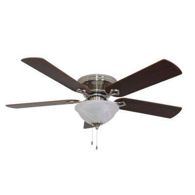 Bennington 52 in. Brushed Nickel Ceiling Fan