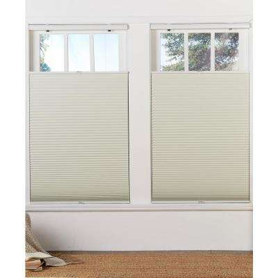 Cut-to-Width Cream 1.5in. Cordless Blackout Top Down Bottom Up Cellular Shade - 71.5in. W x 72in. L