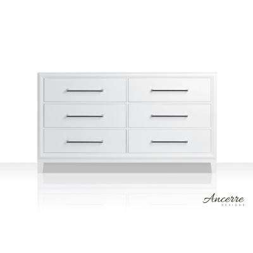 Ellie 59 in. W x 21 in. D Vanity Cabinet Only in White