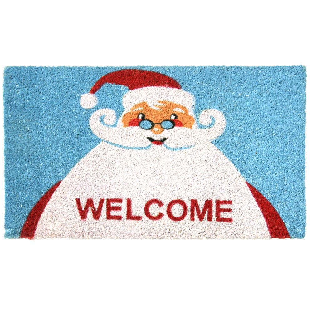 Santa Claus is Back 18 in. x 30 in. Christmas Door Mat