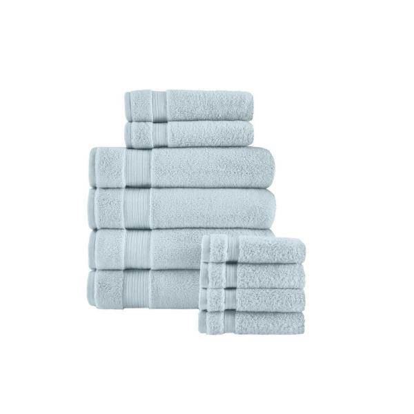 Home Decorators Collection Egyptian Cotton 10-Piece Towel Set in Raindrop