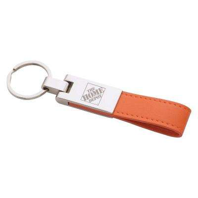 Faux Leather/Metal Key Tag