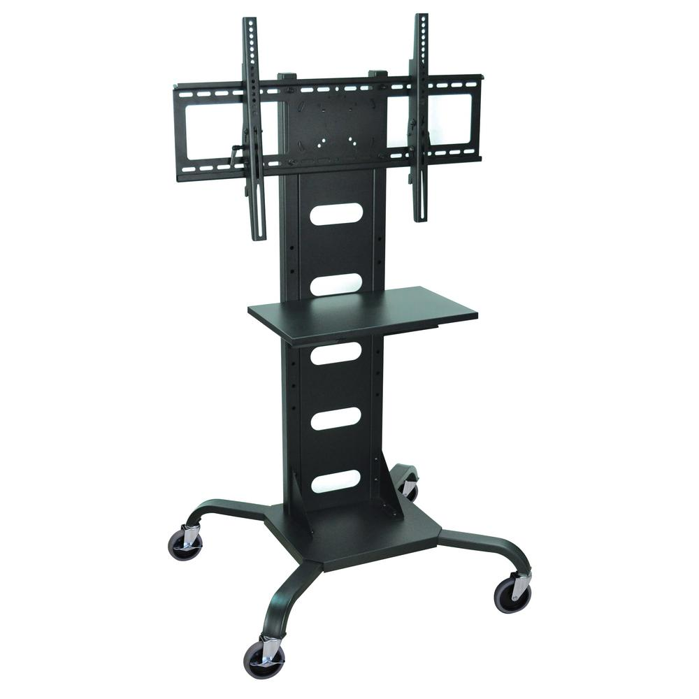 luxor Mobile Flat Panel 31.5 ft. W in TV Stands Black