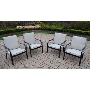 Awe Inspiring 4 Piece Aluminum Outdoor Bistro Set With Oatmeal Cushions Hd76001C4 Cs88 12 Hb The Home Depot Home Interior And Landscaping Staixmapetitesourisinfo