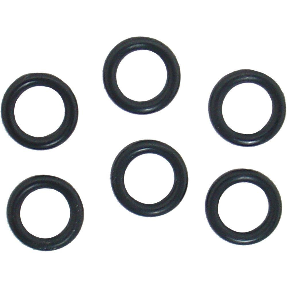 PartsmasterPro 3/8 in. O.D. x 1/4 in. I.D. #205 Rubber O-Ring (6 ...