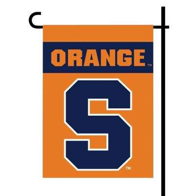NCAA Syracuse Orange 2-Sided Garden 1 ft. x 1.5 ft. Flag with Pole #11213