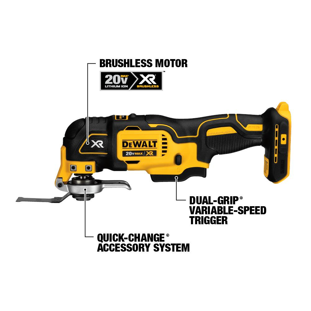 Dewalt 20 Volt Max Lithium Ion Cordless Oscillating Tool Kit W Battery 1 5ah Charger And Bag