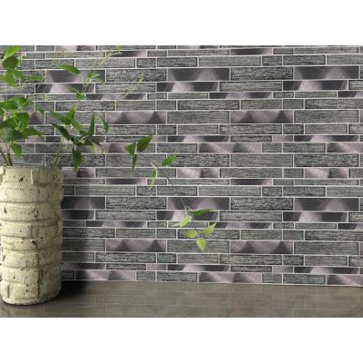 Volcanic Luxe Interlocking 11.73 in. x 11.61 in. x 8mm Glass Metal Mesh-Mounted Mosaic Tile (0.95 sq. ft.)