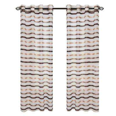 Taupe Sonya Grommet Curtain Panel, 95 in. Length