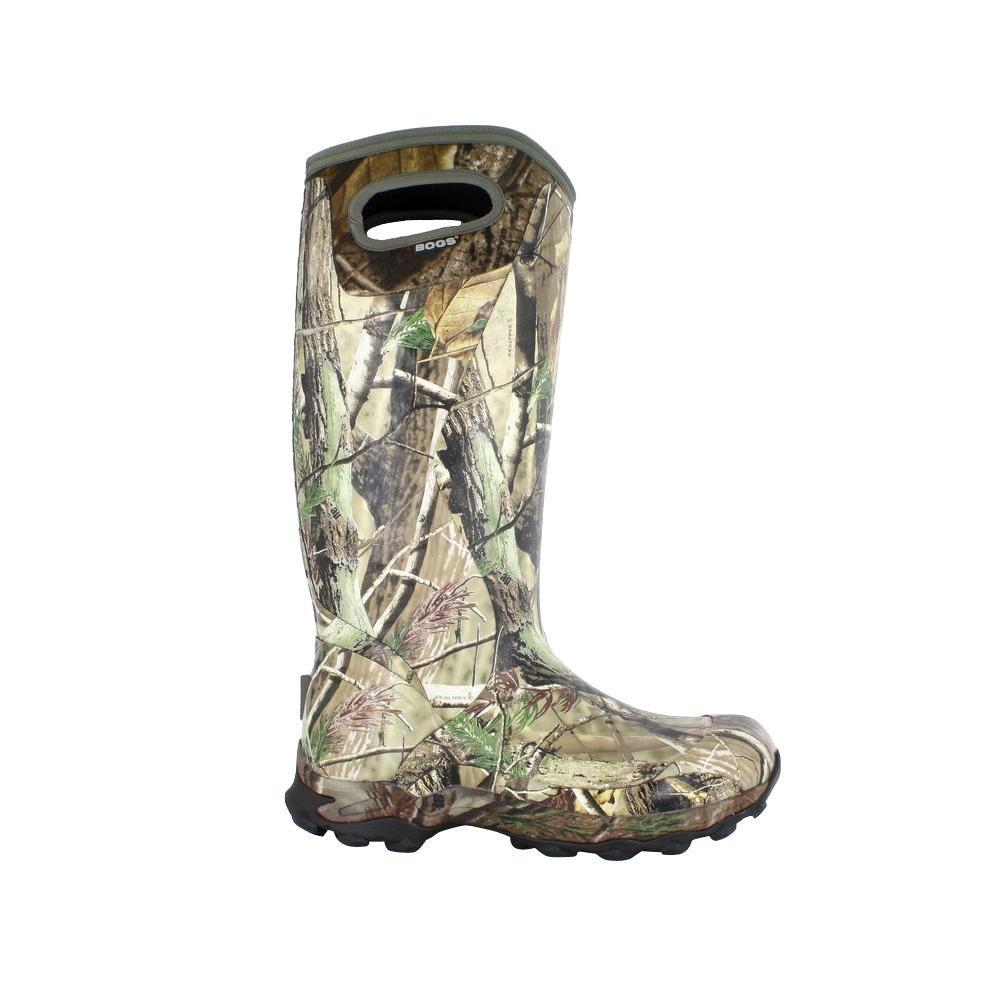 BOGS Bowman Camo Men's 16 in. Size 6 Realtree Waterproof Rubber Hunting Boot